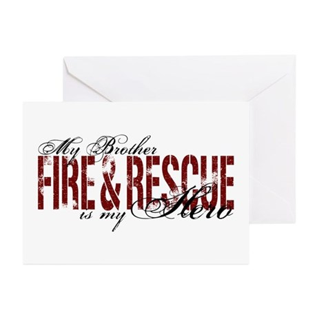 Brother My Hero - Fire & Rescue Greeting Cards (Pk