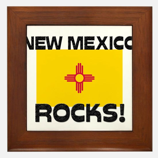 New Mexico Rocks! Framed Tile