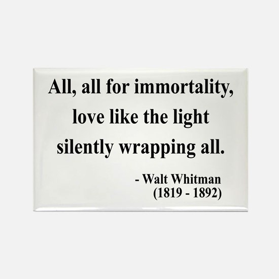 Walt Whitman 22 Rectangle Magnet