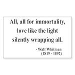 Walt Whitman 22 Rectangle Sticker