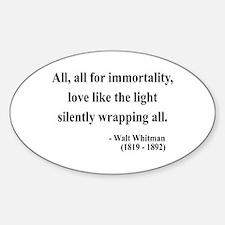 Walt Whitman 22 Oval Decal