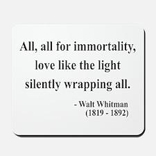 Walt Whitman 22 Mousepad