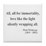 Walt Whitman 22 Tile Coaster