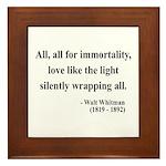 Walt Whitman 22 Framed Tile