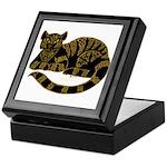 Knot Striped Black Cat Keepsake Box