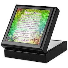NATURE'S BALANCE POEM - Keepsake Box
