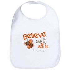 Believe 1 Butterfly 2 ORANGE Bib