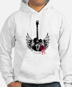 Black Winged Guitar Jumper Hoody