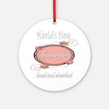 Cherished Godmother Ornament (Round)