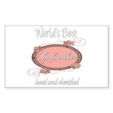Cherished Godmother Rectangle Decal