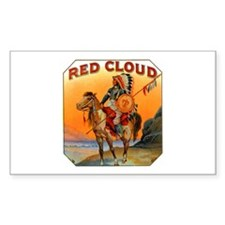 Red Cloud Indian Chief Rectangle Decal