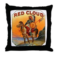 Red Cloud Indian Chief Throw Pillow