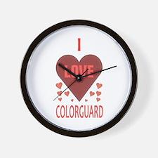 I Love Colorguard Wall Clock