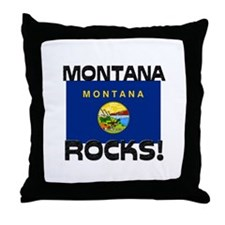 Montana Rocks! Throw Pillow