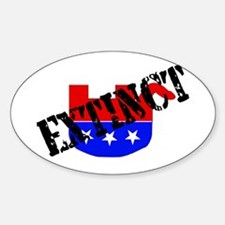 Extinction Of GOP Species Oval Decal