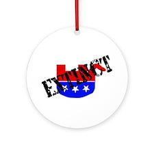 Extinction Of GOP Species Ornament (Round)