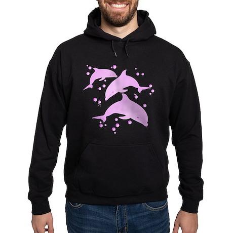 Pink Dolphins Hoodie (dark)
