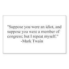 Mark Twain Rectangle Stickers