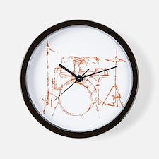 Drum Kit Drums Set Wall Clock