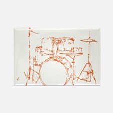 Drum Kit Drums Set Rectangle Magnet