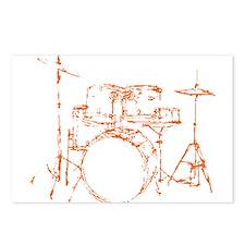 Drum Kit Drums Set Postcards (Package of 8)