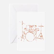 Drum Kit Drums Set Greeting Card