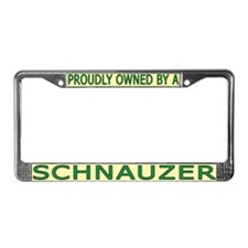 Proudly Owned Schnauzer License Plate Frame