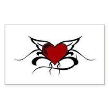 Winged Heart Rectangle Decal