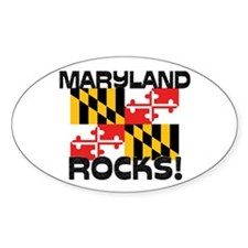 Maryland Rocks! Oval Decal