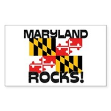 Maryland Rocks! Rectangle Decal