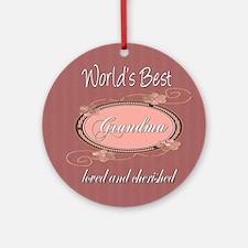 Cherished Grandma Ornament (Round)