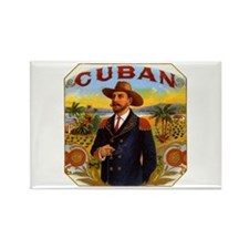 Cuba Cuban Rectangle Magnet