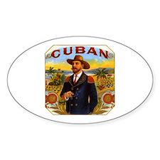Cuba Cuban Oval Decal