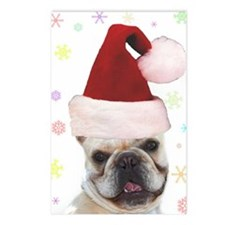 Christmas French Bulldog Postcards (Package of 8)