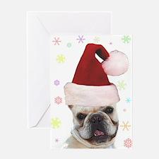 Christmas French Bulldog Greeting Card