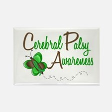 CP Awareness 1 Butterfly 2 Rectangle Magnet
