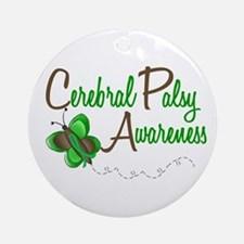 CP Awareness 1 Butterfly 2 Ornament (Round)