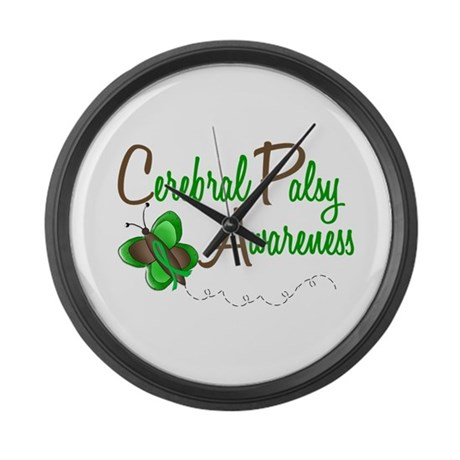 CP Awareness 1 Butterfly 2 Large Wall Clock
