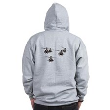 Apache helicopters Zip Hoodie