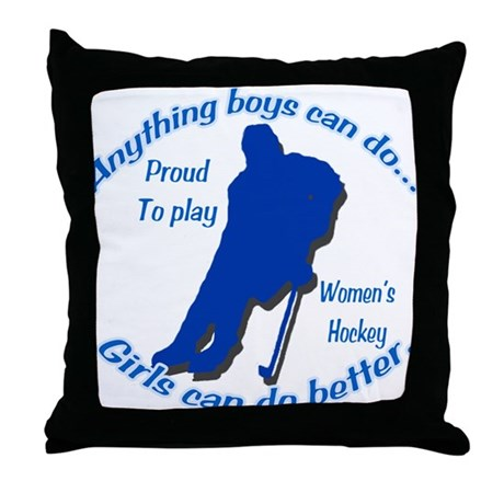 Anything Boys Can Do... Throw Pillow