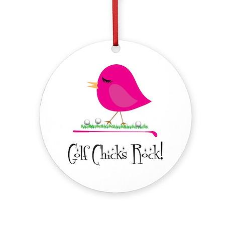Golf Chicks ROCK! Ornament (Round)