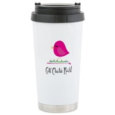 Golf Chicks ROCK! Ceramic Travel Mug