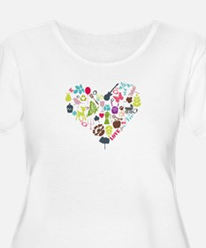 Heart Collage: Plus Size T-Shirt