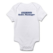 Worlds greatest Sales Manager Infant Bodysuit