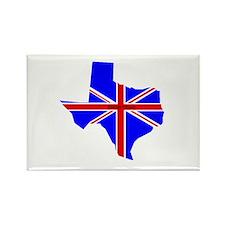 British Texan Rectangle Magnet