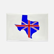 British Texan Rectangle Magnet