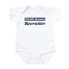 Worlds greatest Recruiter Infant Bodysuit