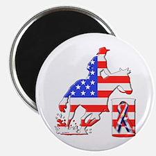 Patriotic Barrel Racer Magnet