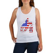 Patriotic Barrel Racer Women's Tank Top