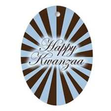 Pinwheel Happy Kwanzaa Oval Ornament